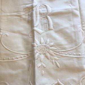 Monogrammed antique pillowcases